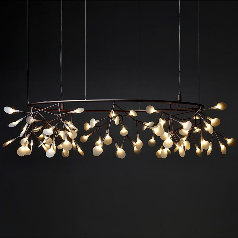 Modern Lighting Circle - Firefly Lighting Art at Lifeix Design