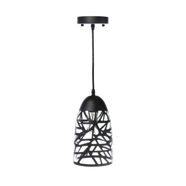 Black Modern Touch Beehive Pendant Lamp-Black