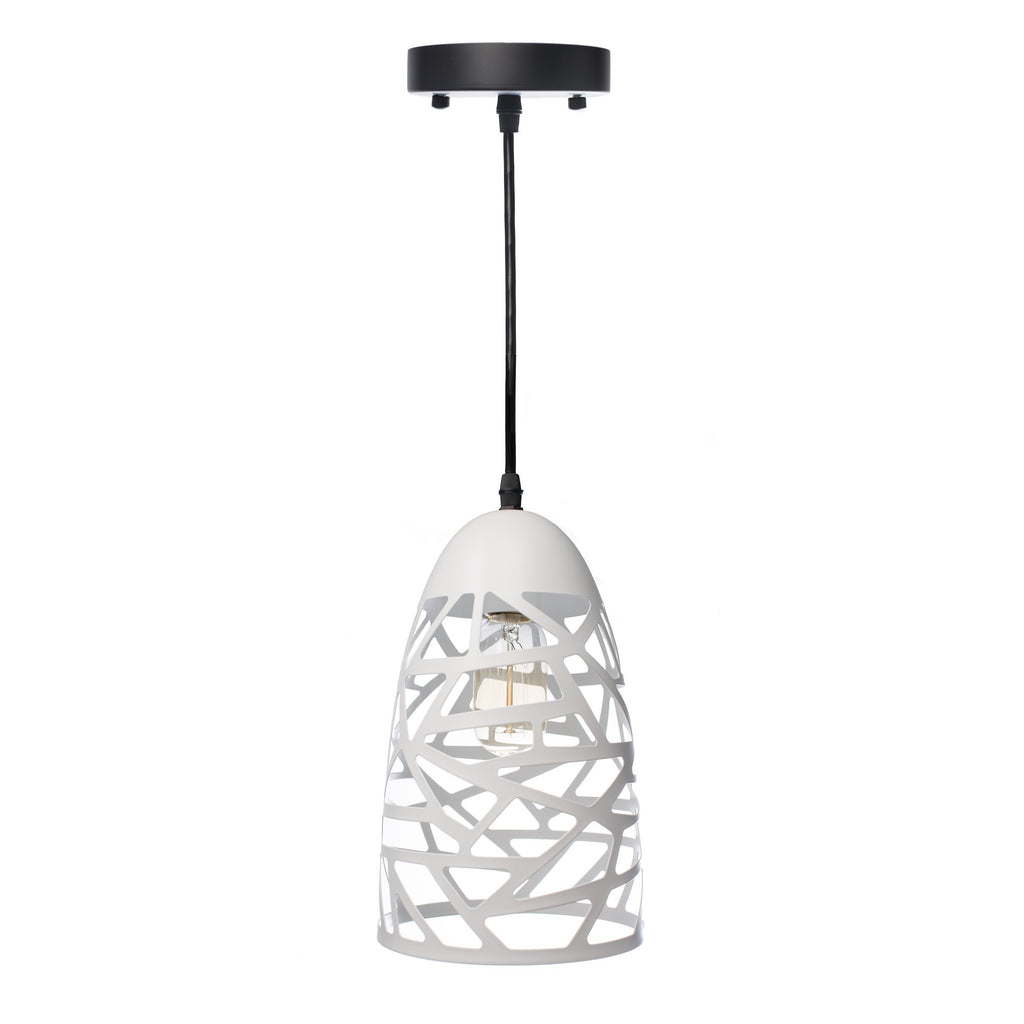 White Modern Touch Beehive Pendant Lamp-Black
