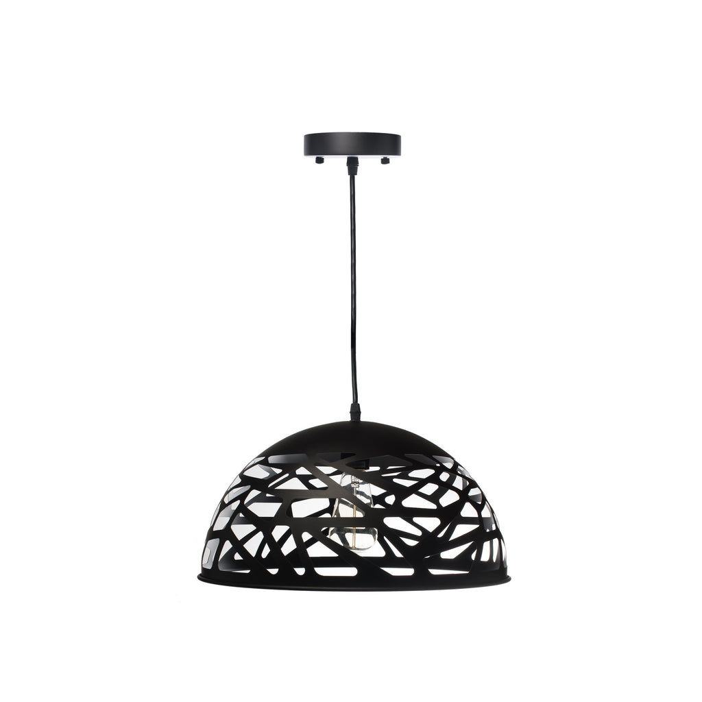 Black Modern Touch Large Oval Pendant Lamp-Black
