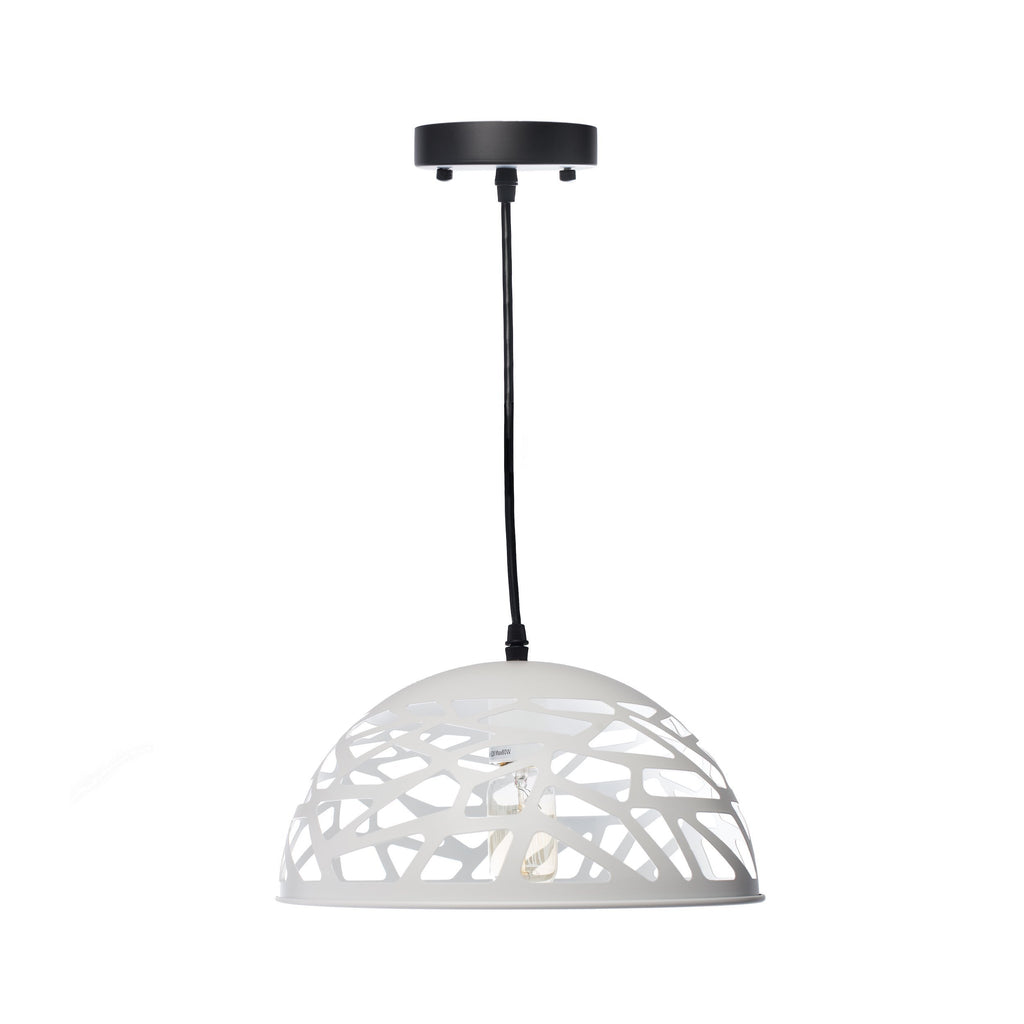 White Modern Touch Large Oval Pendant Lamp- White