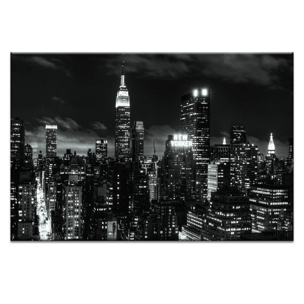 "Artwork 20x30x1.5"" Monochrome City Artwork by Andrew Paranavitana"
