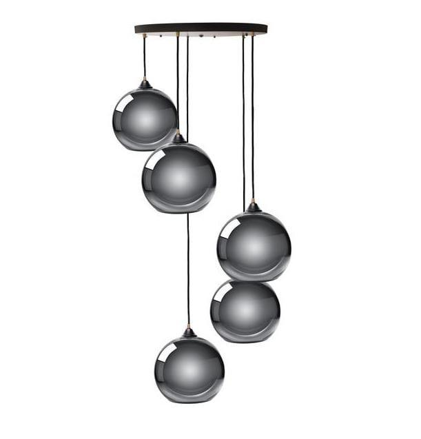 Multi Sphere Pendant Lamp- Chrome at Lifeix Design