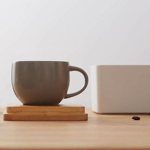MY LIFE Coffee Mugs with Natural Bamboo Cube Gift Box at Lifeix Design