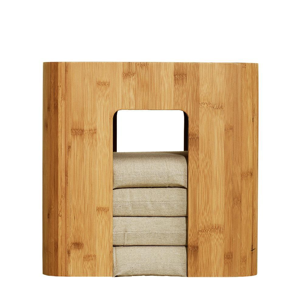 Tea Chest Coffee Table Part - 35: ... Natural Bamboo Coffee Table Tea Table With 4 Cushions At Lifeix Design  ...