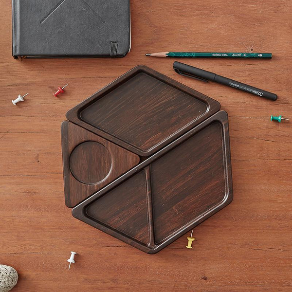 Natural Bamboo Combination Office Storage Box at Lifeix Design