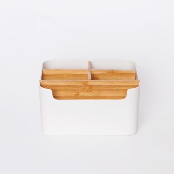 Natural Bamboo Remote Storage Box at Lifeix Design