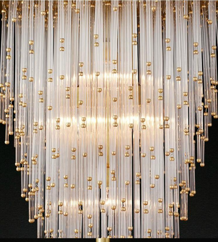 Nordic Gold & Crystal Chandelier - Intricate Crystal Chandelier For Home at Lifeix Design
