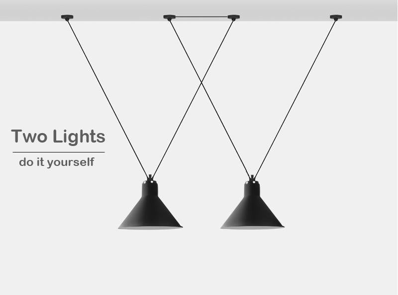 Nordic LED Pendant Lights - Funnel Shaped Hanging Lamp at Lifeix Design