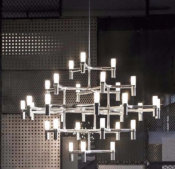 Nordic Postmodern Multiple Layers Aluminum Candle Pendant Light at Lifeix Design