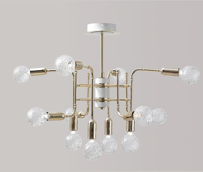 Nordic Style Compound Glass Chandelier at Lifeix Design