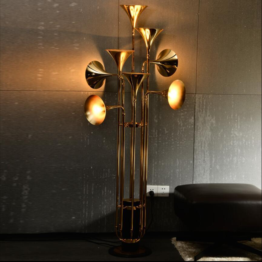 Nordic Trumpet Style Shadeless Floor Lamp at Lifeix Design