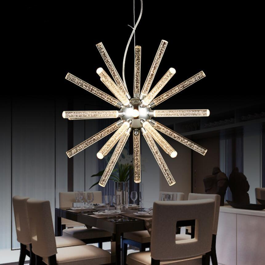 Novel Creative Design Iron Chandelier - Glowing Snowflake Droplight at Lifeix Design