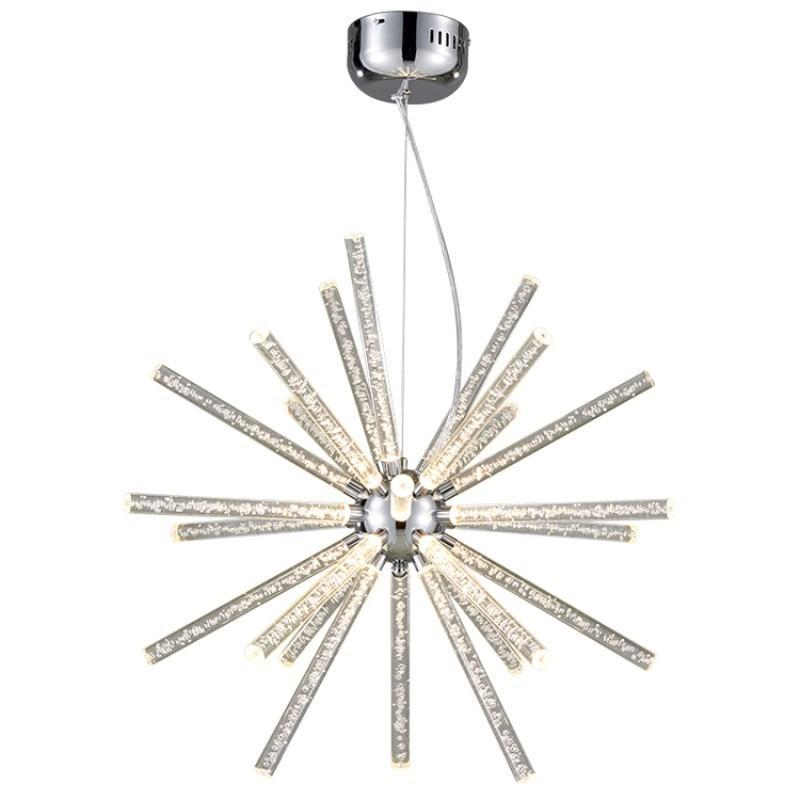 Novel Creative Design Iron Chandelier - Glowing Snowflake Droplight - Large at Lifeix Design