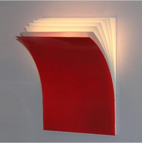 Open Book Modern Iron Wall Lamp at Lifeix Design