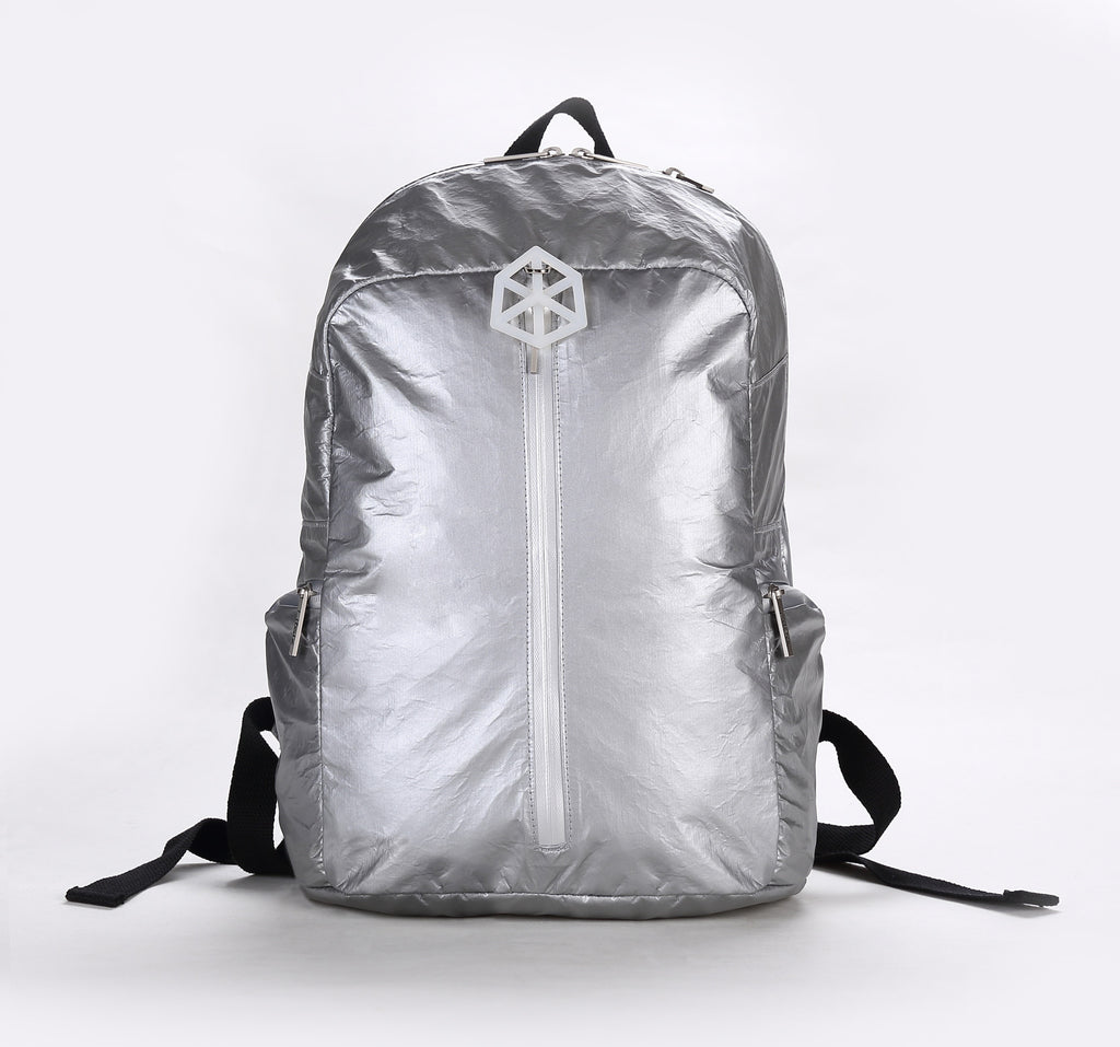 Backpack Large / Silver Orange-TIMELINE Waterproof Paper Backpack by Lifeix