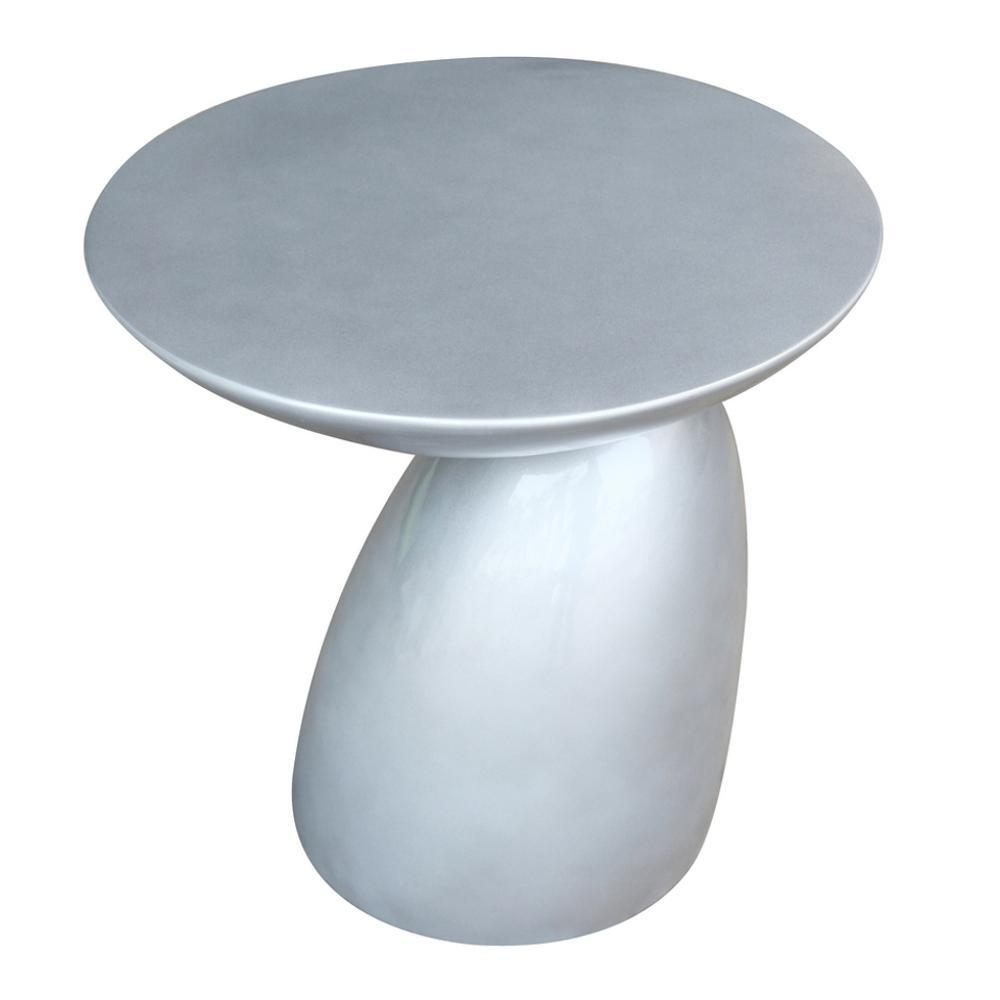 Silver Oval End Side Table