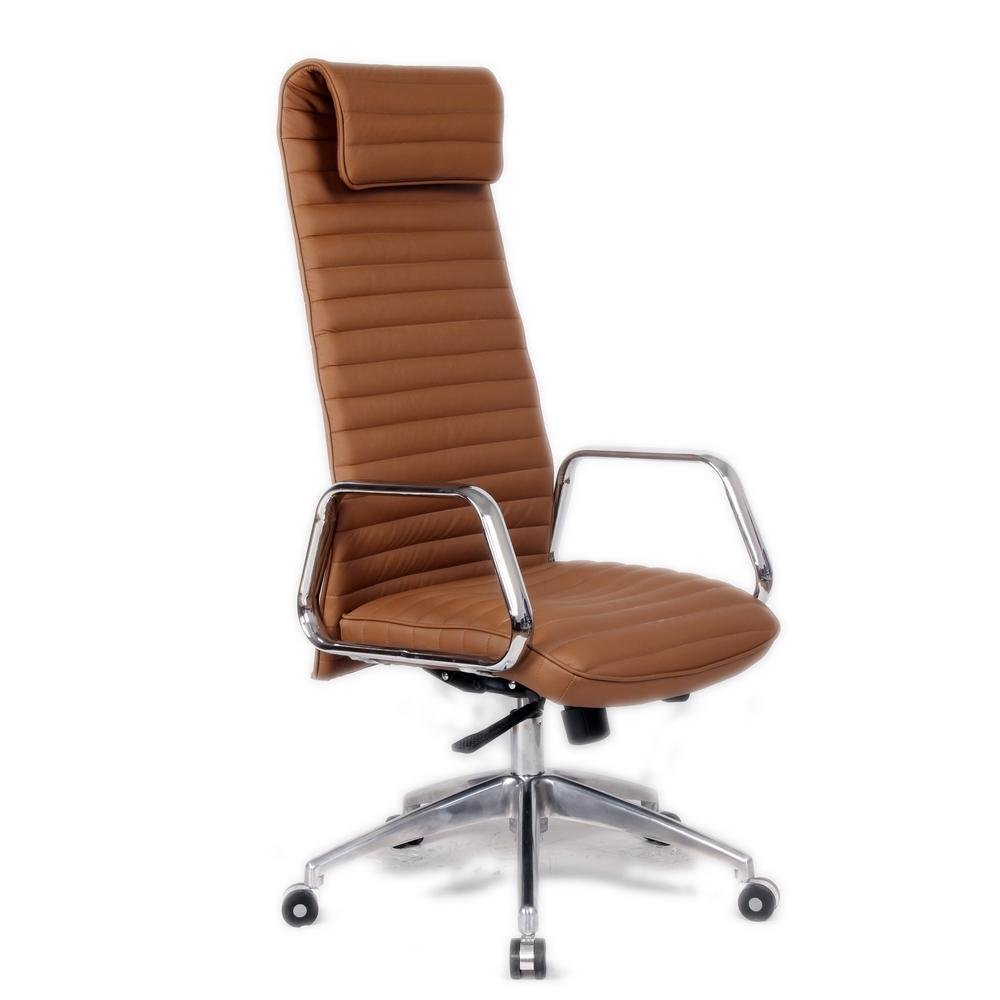 Light Brown Ox Office Chair High Back
