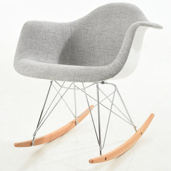 Chairs LIght Grey / Single Padded Rocker Lounge Chair
