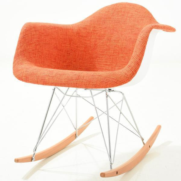 Chairs Orange / Single Padded Rocker Lounge Chair
