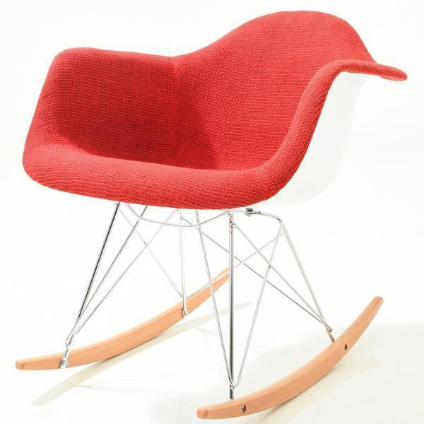 Chairs Red / Single Padded Rocker Lounge Chair