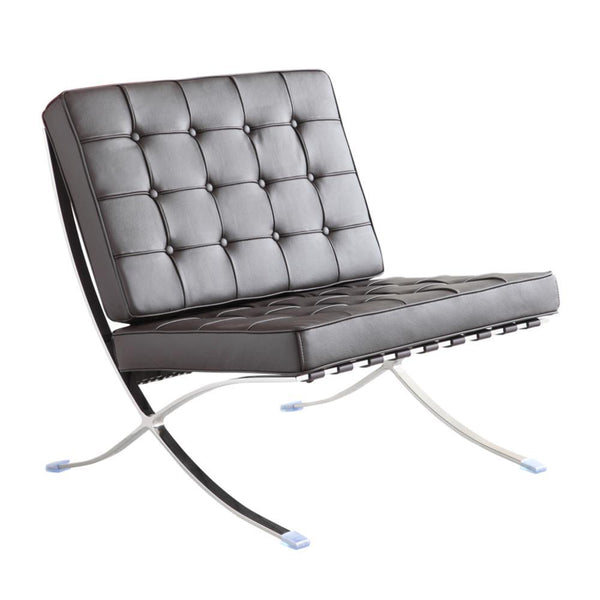 Black Pavilion Chair in Italian Leather