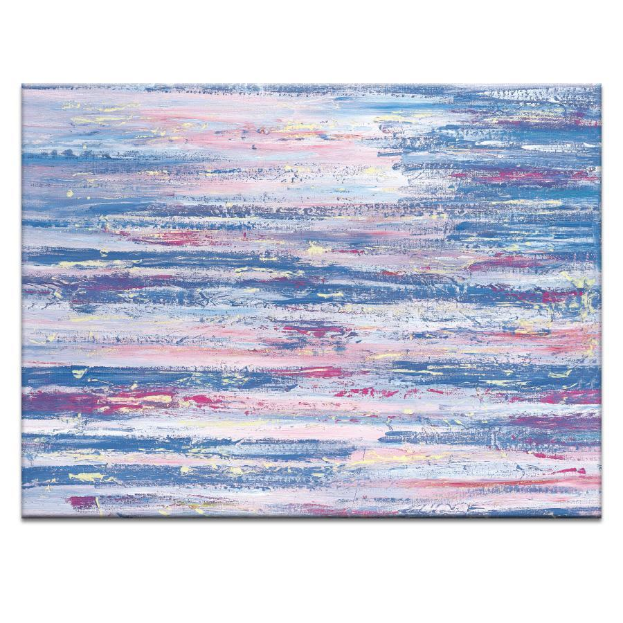 "Artwork 30x40x1.5"" Pink Stripe Artwork by Gary Butcher"
