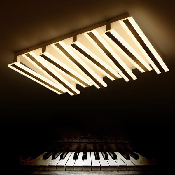 Post-modern Piano Lighting Fixture - Rectangular & Minimalistic Ceiling Light at Lifeix Design
