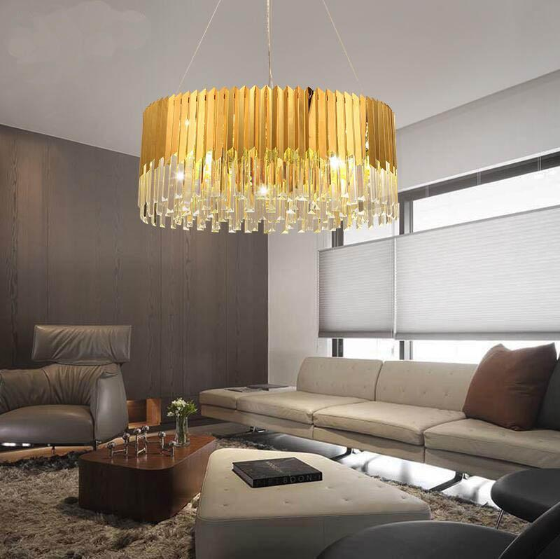 Buy Post-Modern Style Crystal & Gold Pendant Light - Crystal Chandelier for  Living Room/Foyer at Lifeix Design for only $4,627.19