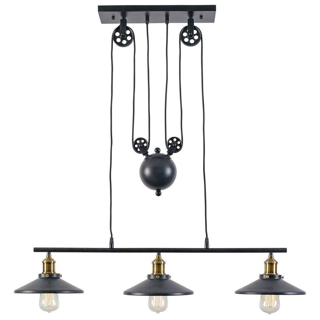 Island Light Rawley 3-Light Pulley Pendant