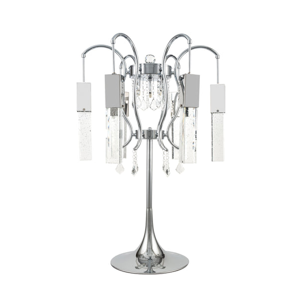 retro chic crystal chandelier table lamp