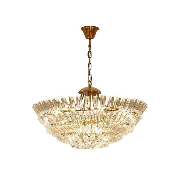 Retro Style Crystal Chandelier - Half-Sphere Crystal Lighting Fixture at Lifeix Design