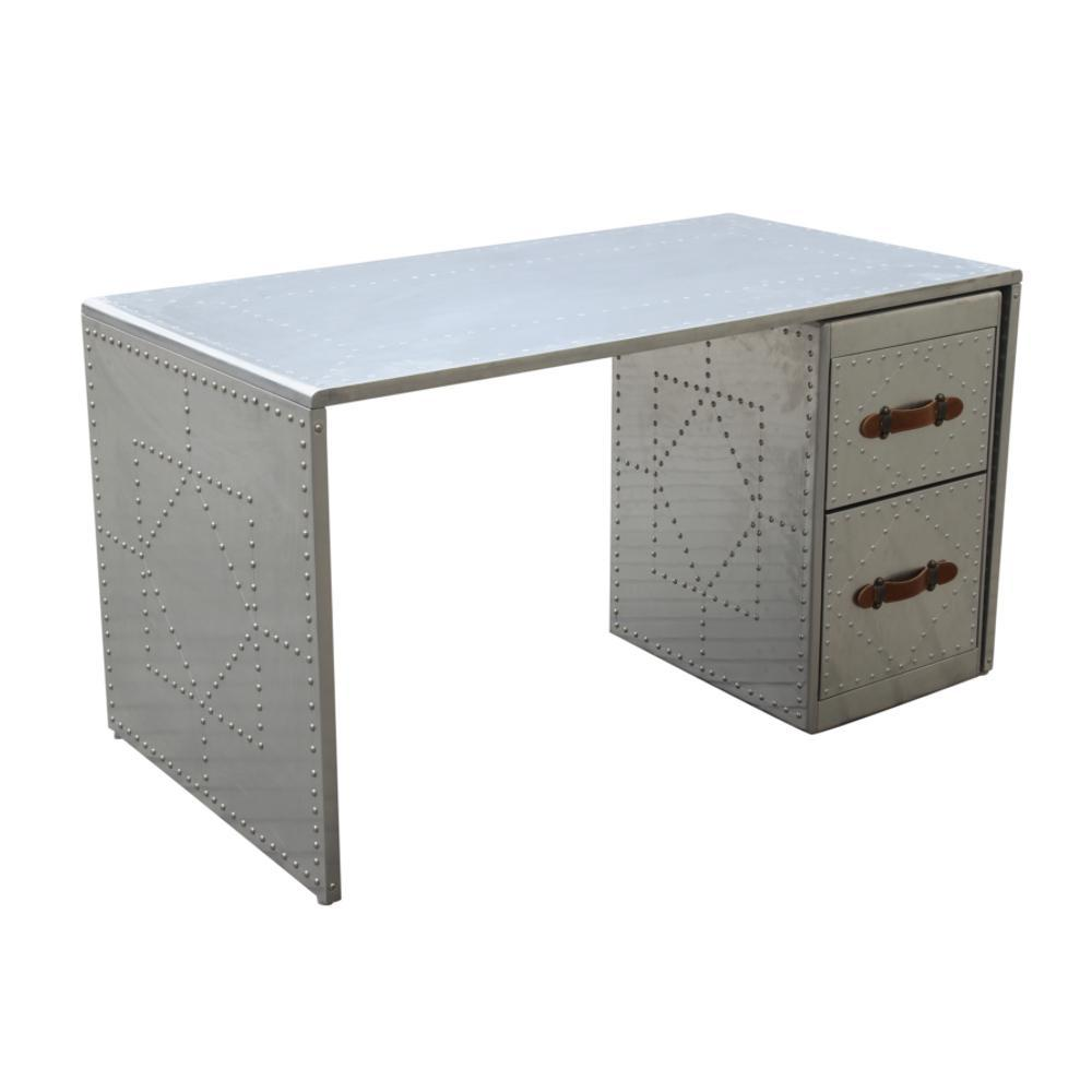 Silver Riveted Desk