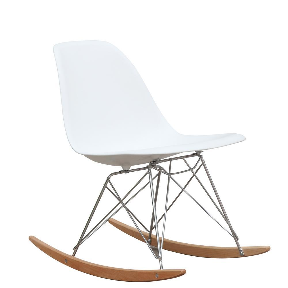 White Rocker Side Chair