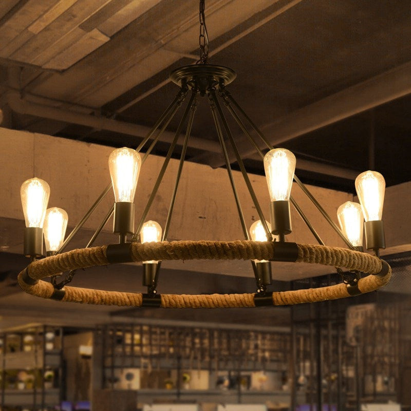 ceiling light Rope Wrapped Pendant Industrial Style