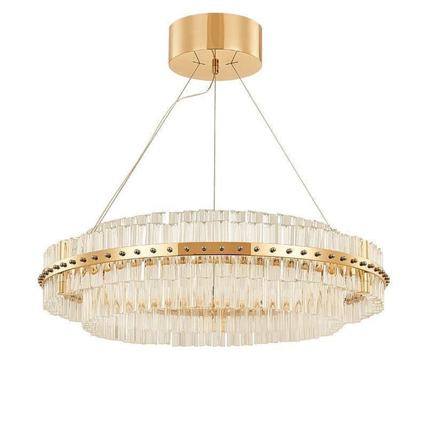 Round Glass Chandelier - Modern Style Living Room Lighting at Lifeix Design