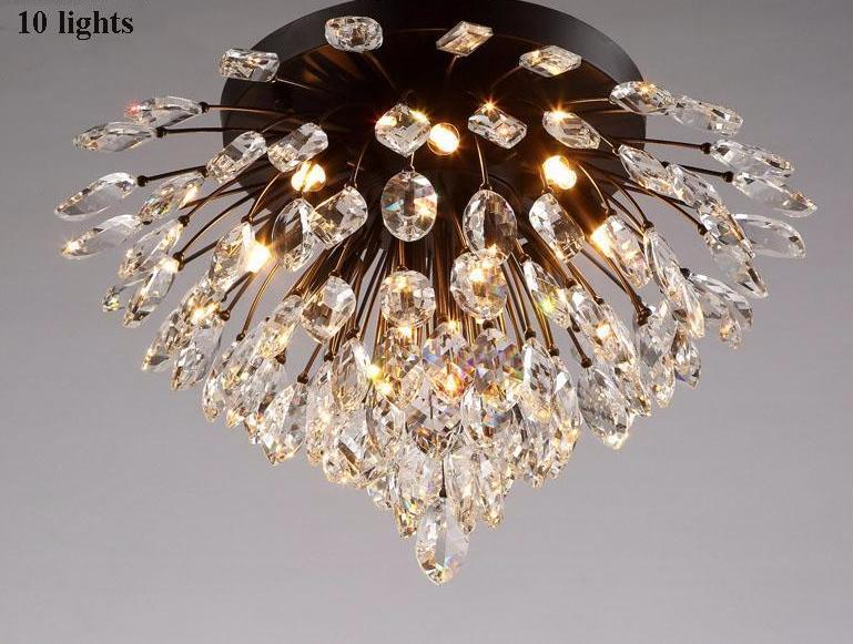 Rustic Atmosphere Retro Lamp - Hundreds of Crystal Bits Ceiling Lamp at Lifeix Design