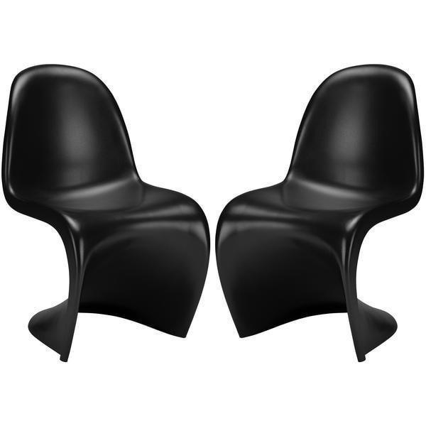 Chairs Black / Set Of 2 S Chair (Set of 2)