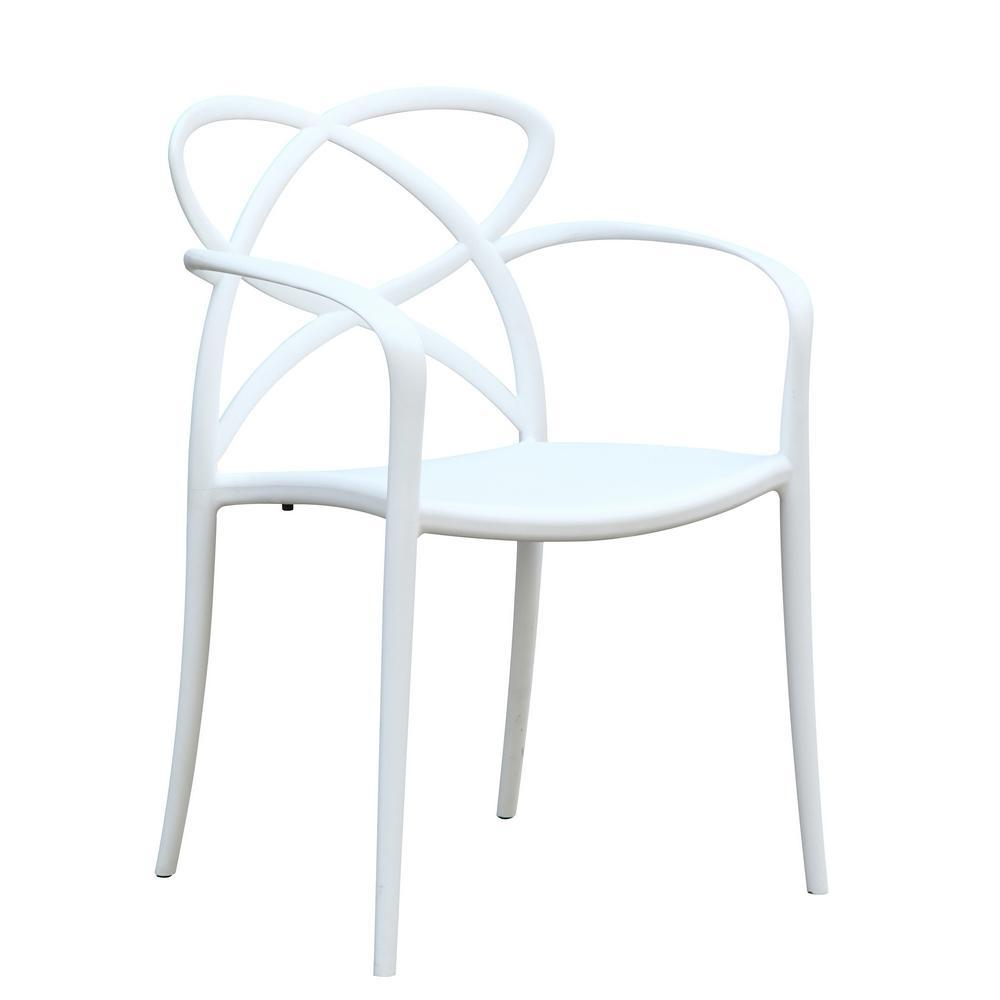 White Script Dining Chair