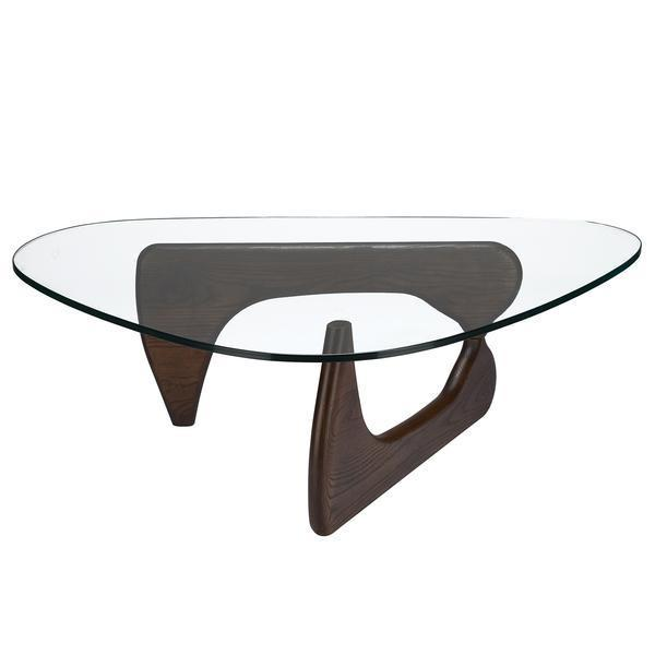 table Dark walnut / Single Sculpture Coffee Table