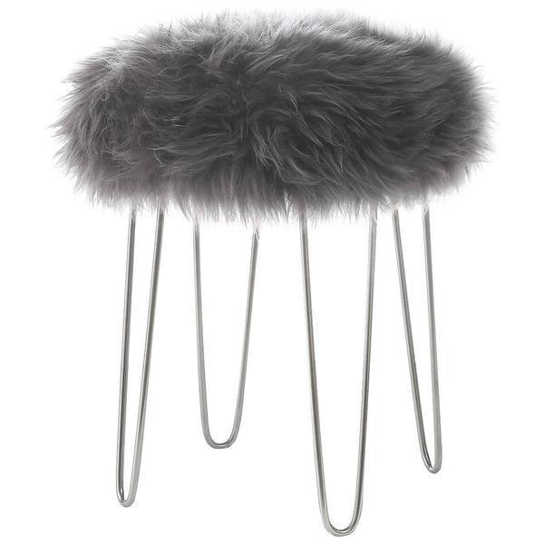 Chairs Grey / Single Shailene Sheepskin Stool