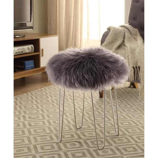 Chairs Shailene Sheepskin Stool