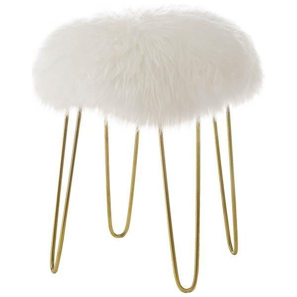 Chairs White / Single Shailene Sheepskin Stool