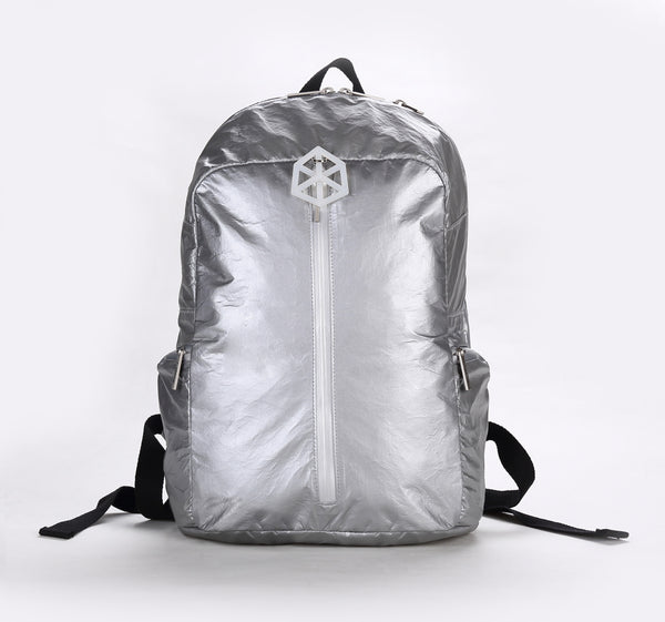 Backpack Large / Silver Silver-TIMELINE Waterproof Paper Backpack by Lifeix