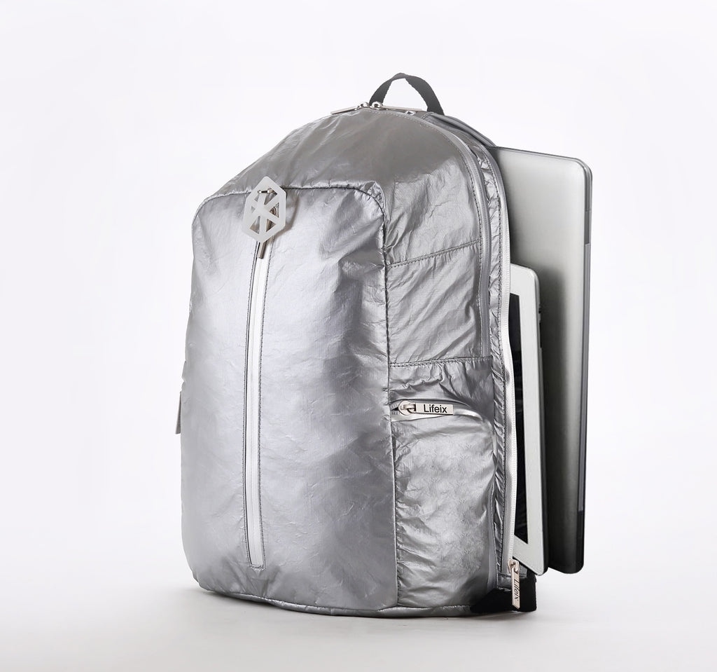 Backpack Small / Silver Silver-TIMELINE Waterproof Paper Backpack by Lifeix
