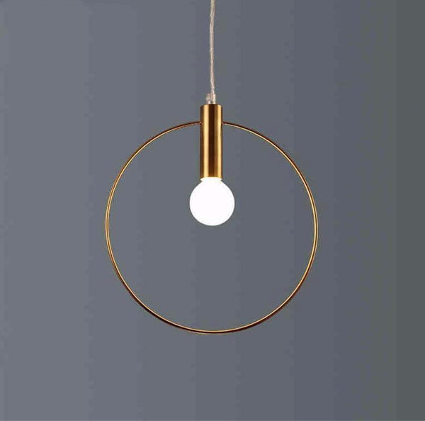 Simple Circle Industrial Pendant Light at Lifeix Design