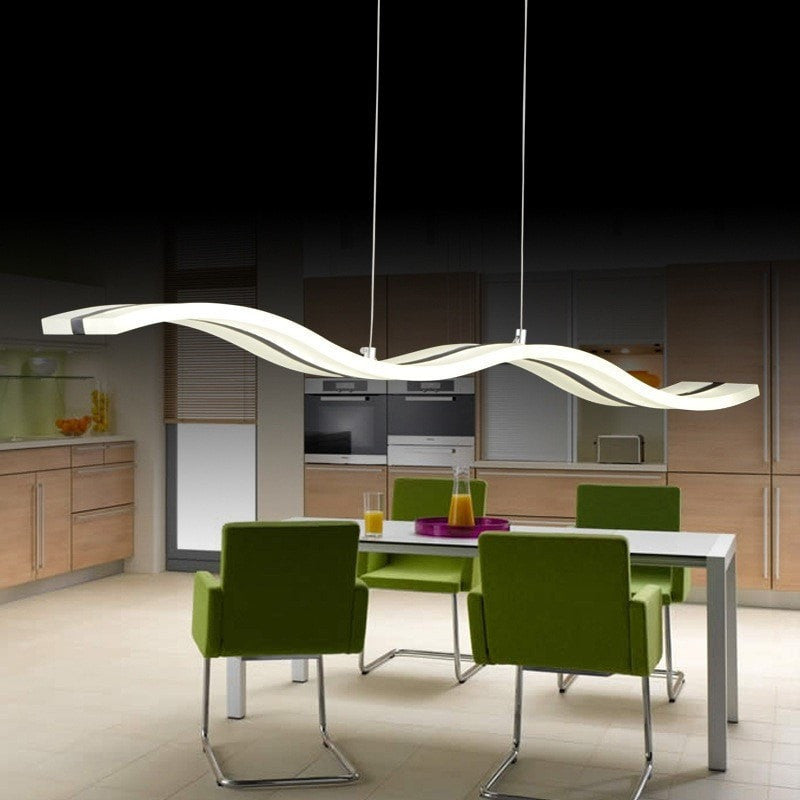 Simple LED Wave Character Line Ceiling Light Pendant