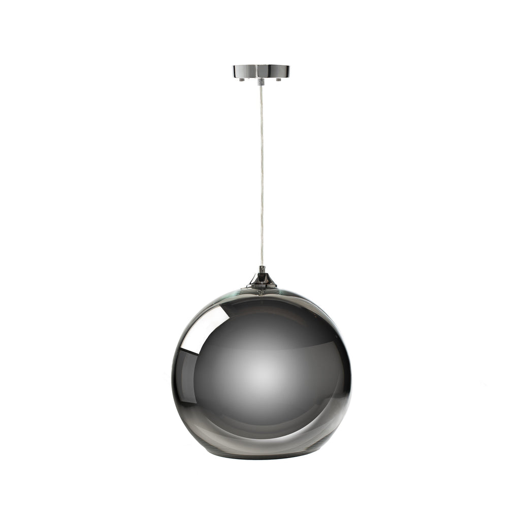Chrome Single Sphere Pendant Lamp- Chrome Small