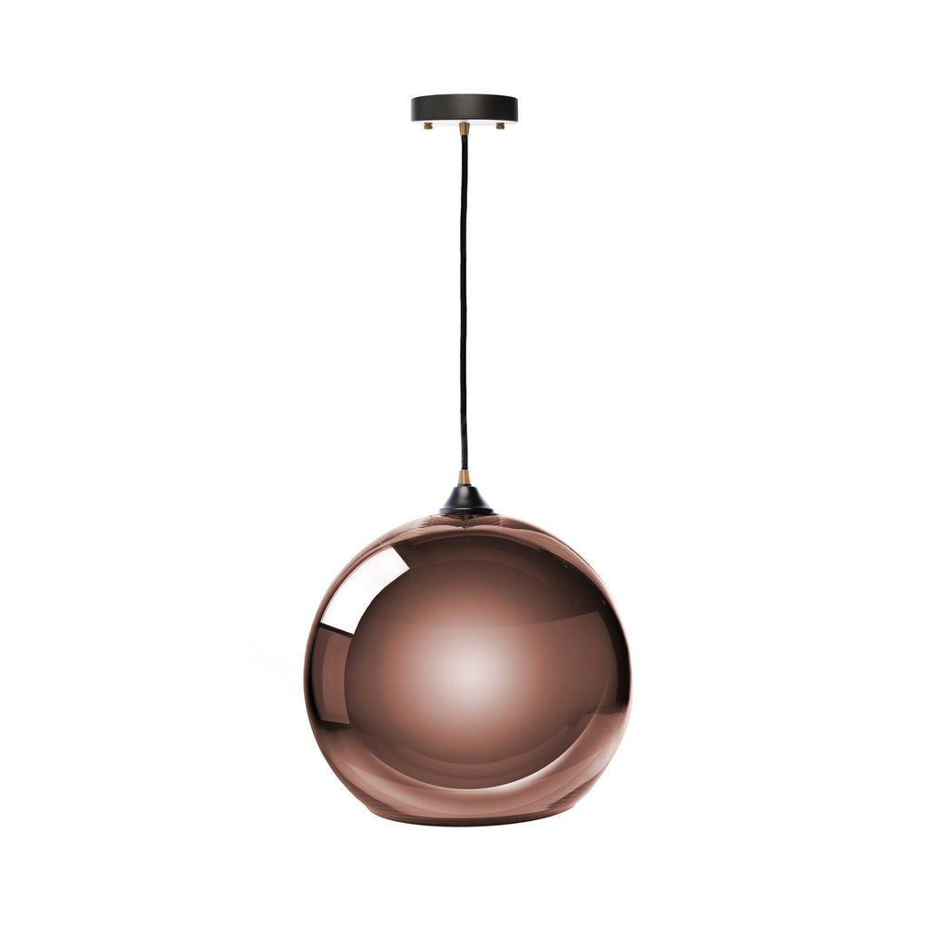 Copper Single Sphere Pendant Lamp- Copper Large