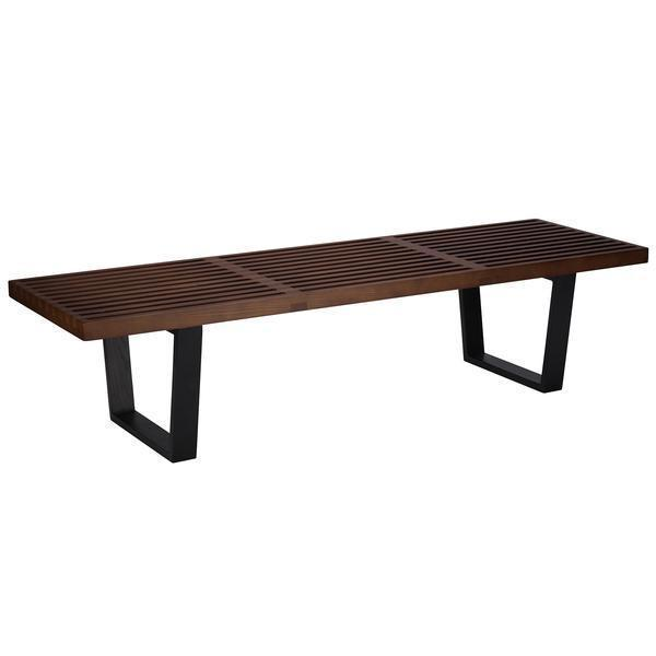 table Dark Walnut / Single Slat 5' Bench 60''